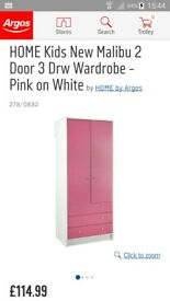 Pink and white wardrobe
