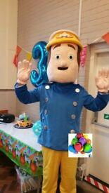 fireman sam unmanned mascot costume hire 24hrs