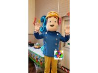 fireman sam unmanned mascot costume hire 24hrs