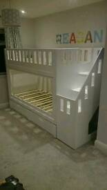 Handmade Bunk Beds WITH Storage free local delivery.