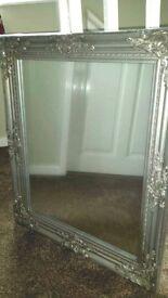 Silver vintage frame mirror