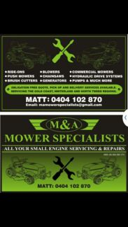 MOWER SERVICING AND REPAIRS Tallai Gold Coast City Preview