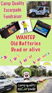 Wanted old Batteries  Bundaberg West Bundaberg City Preview
