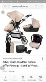 Silver cross wayferer from smoke and pet free home