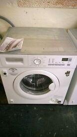 white electrolux integrated 5kg 1400 spin digital washing machine