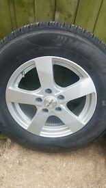Large alloy wheels with tyres for van/truck