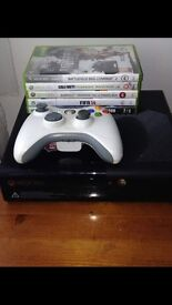 Xbox 360 slim 500gb with games