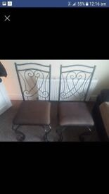 2 x Metal Dining Chairs