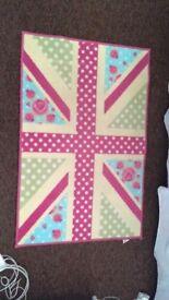 Cute Union Jack bedroom mat
