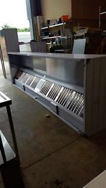 1500x1000 WALL MOUNTED EXTRACTION CANOPY FOR COMMERCIAL KITCHEN/RESTAURANT
