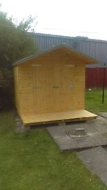 10ft x 8ft Shed WITH 3FT OVERHANG