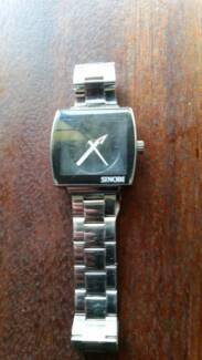 SINOBI Men Stainless Steel Strap Quartz Wrist Watch