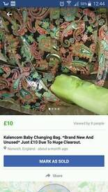 Kalencom Baby Changing Bag. Brand new. Must go today. I'm moving house tomorrow.
