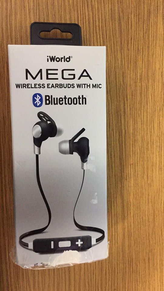 328209f75b3 iWorld Pulse Wireless Bluetooth Earbuds With Inline Microphone Silver