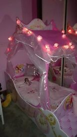 Toddlers princess carriage bed