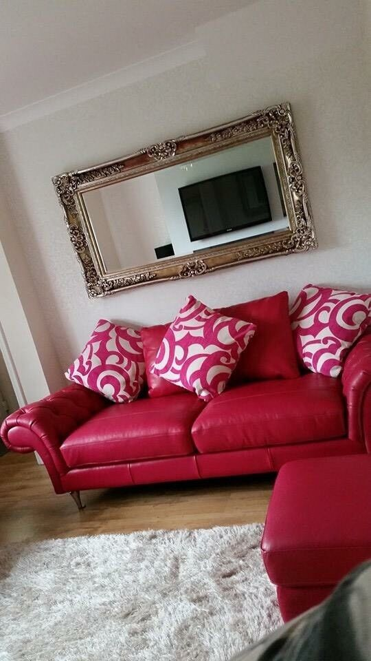 Delicieux Burlesque Leather Sofa   3 Seater   2 Seater And Pouffe