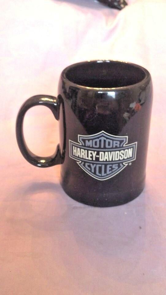HARLEY DAVIDSON Quest Tankard Mug Black 96955-07V NIB NOS - $18.95
