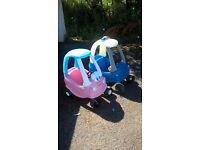 Little tikes cosy coupe cars x 2