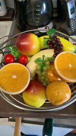 Ceramics porcelain fruit + bowl