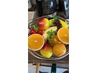 Ceramics porcelain fruit + Fruit Bowl/ Veg Rack