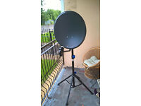 Satelite dish with converter and stand