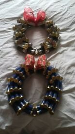 Christmas wreath made from recycled shotgun shells/shooting/clay pigeons