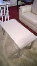ex display white wooden coffee table