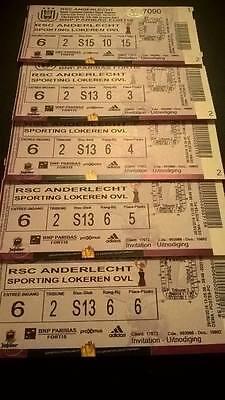TICKET : RSC ANDERLECHT - KV MECHELEN 23-10-2016
