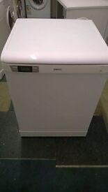 white beko digital fullsize 13 place setting dishwasher