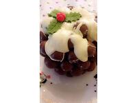 Chocolate christmas puddings made to order