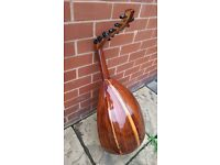 Egyptian Arabic Rose Oud String Instrument Fretless Lute + FREE Soft Case