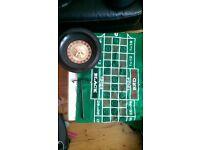 Roulette Wheel + green mat (reversible) and slider
