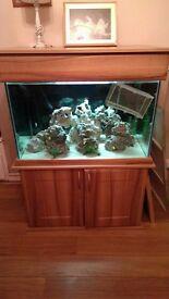 340 litre oak style fish tank