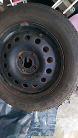 GOOD YEAR TYRE NCT.. 195/60/15 Excellent condition.. pumped up on ford rim, OVER 8MM tread,