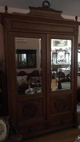 Antique Oak Armoire