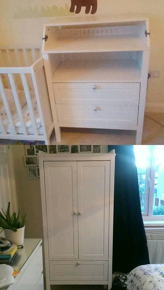 Ikea kids wardrobe and changing unit