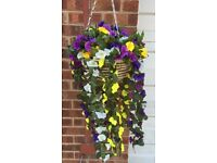 artificial hanging baskets for sale