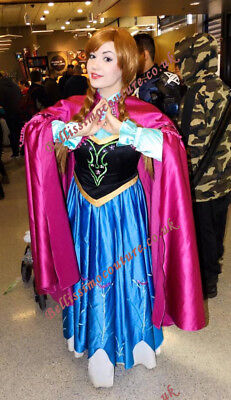 PLUS SIZE Disney Frozen Princess Anna costume adult SIZE18,20,22,24,26Anna dress