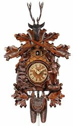 Adolf Herr Cuckoo Clock - The Bear Hunter (medium) AH 474/1 8T NEW