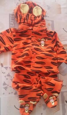 Winnie Pooh Tigger Anzug Kostüm Fasching 2teilig Neu von Disney Gr. 6-9 Monate