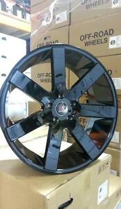 "FINANCING AVAILABLE ON ALL PRODUCTS NEW!! 22"" GLOSS BLACK OR BLACK AND MILLED WHEELS! $1250 full set!!"
