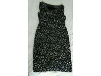 Black dress with cream fowers (not worn )