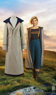 13th female Doctor who Cosplay Costume Coat 13th Doctor Jodie Cosplay Costume HH](Female Doctor Costume)