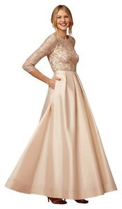 Blush Sequin Beaded Ball Gown A-line Dress - Size AU1 Manly Manly Area Preview