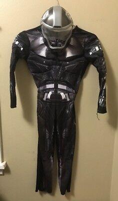Rise Of Cobra M 7-8 Schwarz Silber Overall Helm Maske (Cobra Kostüm)