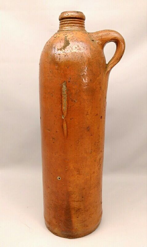 ANTIQUE ROISDORFER MINERAL QUELLE STONEWARE POTTERY WATER BOTTLE N3 CIRCA 1880s