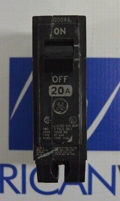 Lot Of 5 Ge Thql1120 Plug On 1 Pole 20 Amp Circuit Breakers