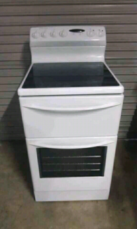 Upright Electric Ceramic Stove and oven.Fan forced. 540mm.