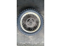 pit bike rear wheel with tyre