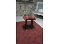 tartan stool